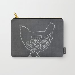 Chicken Butcher Diagram (Hen Meat Chart) Carry-All Pouch