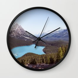 Peyton Lake Mountain Top View Wall Clock