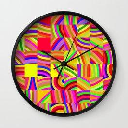Retro Pixels Wall Clock