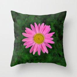 Pink Shasta Daisy Throw Pillow
