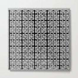 Black White design pattern Metal Print