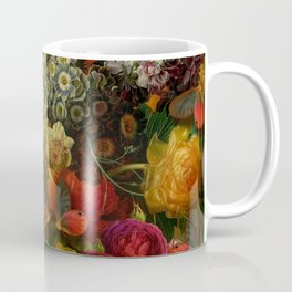 """""""Baroque Spring of Flowers and Butterflies"""" Coffee Mug"""