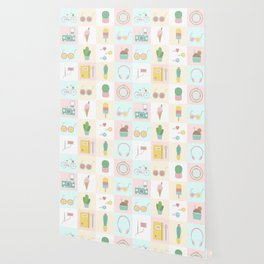 Cute Pastel Summer Pattern Wallpaper
