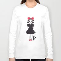 kiki Long Sleeve T-shirts featuring Kiki and Jiji by Wondering Lolita by Naeema Krishna