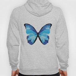 Blue butterfly Low polly artwork Geometric Blues art Hoody