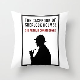 The Casebook of Sherlock Holmes Minimalist Book Cover Throw Pillow