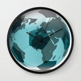 Football World Globe Wall Clock