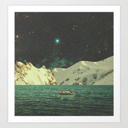 Floated with Nebula Art Print