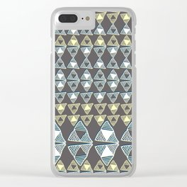 Ethnic Ornament / Canarys Curtain Clear iPhone Case