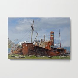 Abandoned Whaling Ships Metal Print