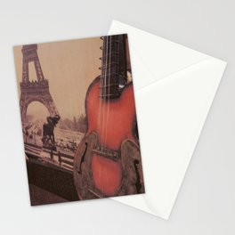 Guitar Collage Stationery Cards