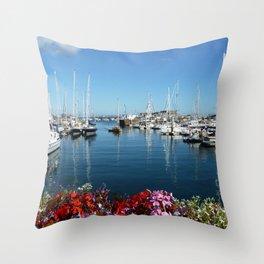 St Peter Port Harbour Throw Pillow
