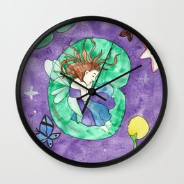 Child of lilies Wall Clock