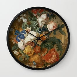 "Mélanie de Comolera after Jan van Huysum ""Still Life of Flowers"" Wall Clock"