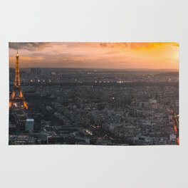 Sunset in the city of love Rug