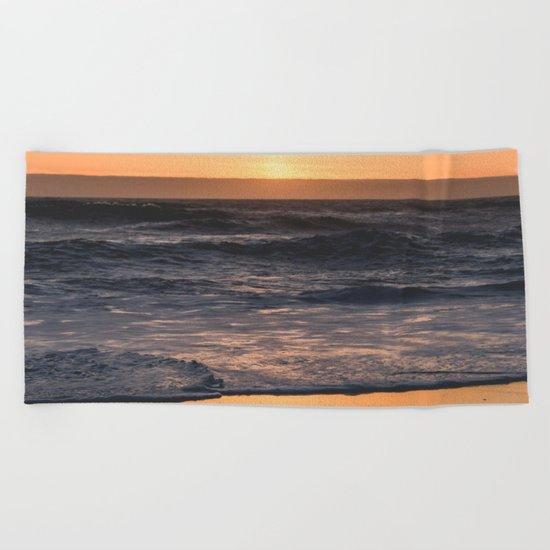 Sunset Kiss Beach Towel
