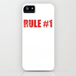 """Nice Leg Day Shirt """"Rule #1 Don't Skip Leg Day"""" T-shirt Design Dumbbell Fitness Gym Fitness Healthy iPhone Case"""