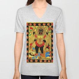 Hindu Kali 20 Unisex V-Neck