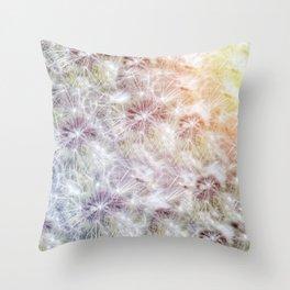 Dandelion Sunrise Throw Pillow