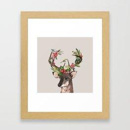 Christmas Deer Framed Art Print