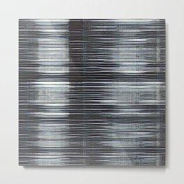 Rain Streaked Metal Stripes Metal Print