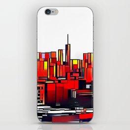 Mondrian Mosaic of Manhattan in Orange and Yellow iPhone Skin