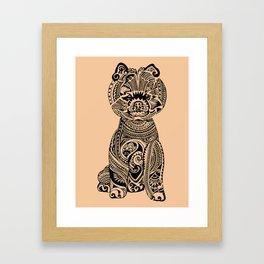 Polynesian Pomeranian Framed Art Print