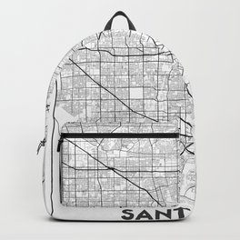 Minimal City Maps - Map Of Santa Ana, California, United States Backpack