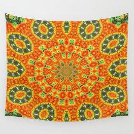 Kaleidoscope of Bold Orange Gazanias  Wall Tapestry