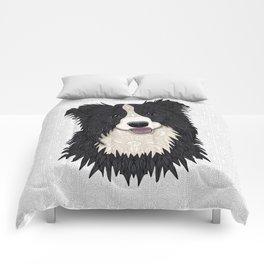 Happy Border Collie Comforters