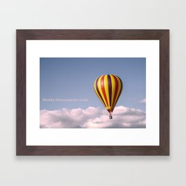 Candy floss clouds Framed Art Print