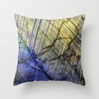 mineral Throw Pillows featuring Mineral Stone by Santo Sagese