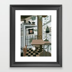 View from the Cafe Framed Art Print