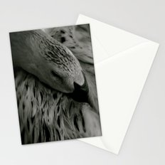 sleeping swan Stationery Cards
