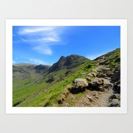 Pathway To Haystacks, lake district uk Art Print
