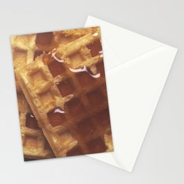 Waffles With Syrup Stationery Cards