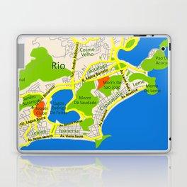 RIO map design - Brasil Laptop & iPad Skin