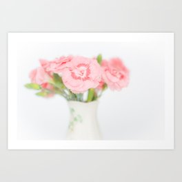 Pink Carnations 2 Art Print