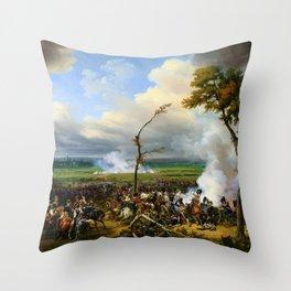 12,000pixel-500dpi - Horace Vernet - Battle Of Hanau - Digital Remastered Edition Throw Pillow