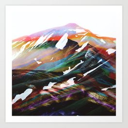 Abstract Mountains II Art Print