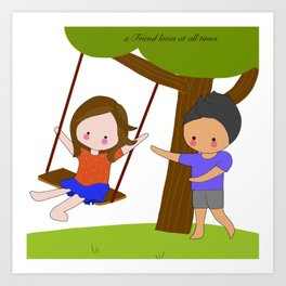 Swinging Art Print