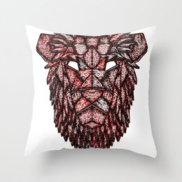 Lion Mask Throw Pillow