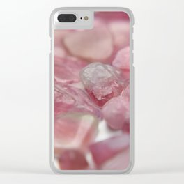 pink tourmaline dreams Clear iPhone Case