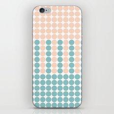 Pastel orange and green mixed polka dots pattern iPhone & iPod Skin