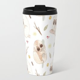 Big sad eyes. Furry little bodies - Watercolor pattern illustration Travel Mug