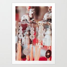 Colorful Thai keepsakes with beads on Thai market Art Print