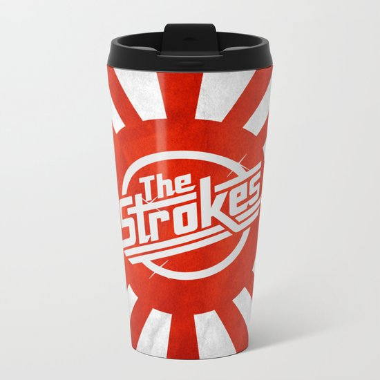 The Strokes Logo Welcome To Japan Metal Travel Mug