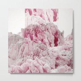 Pink Glacier Metal Print