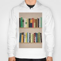 books Hoodies featuring BOOKS!!! by Matthew Justin Rupp