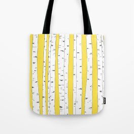 Aspen Forest - Yellow Tote Bag